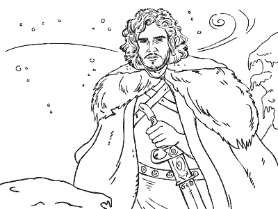 400x300 Community Post Game Of Thrones Coloring Book Jon Snow, Coloring