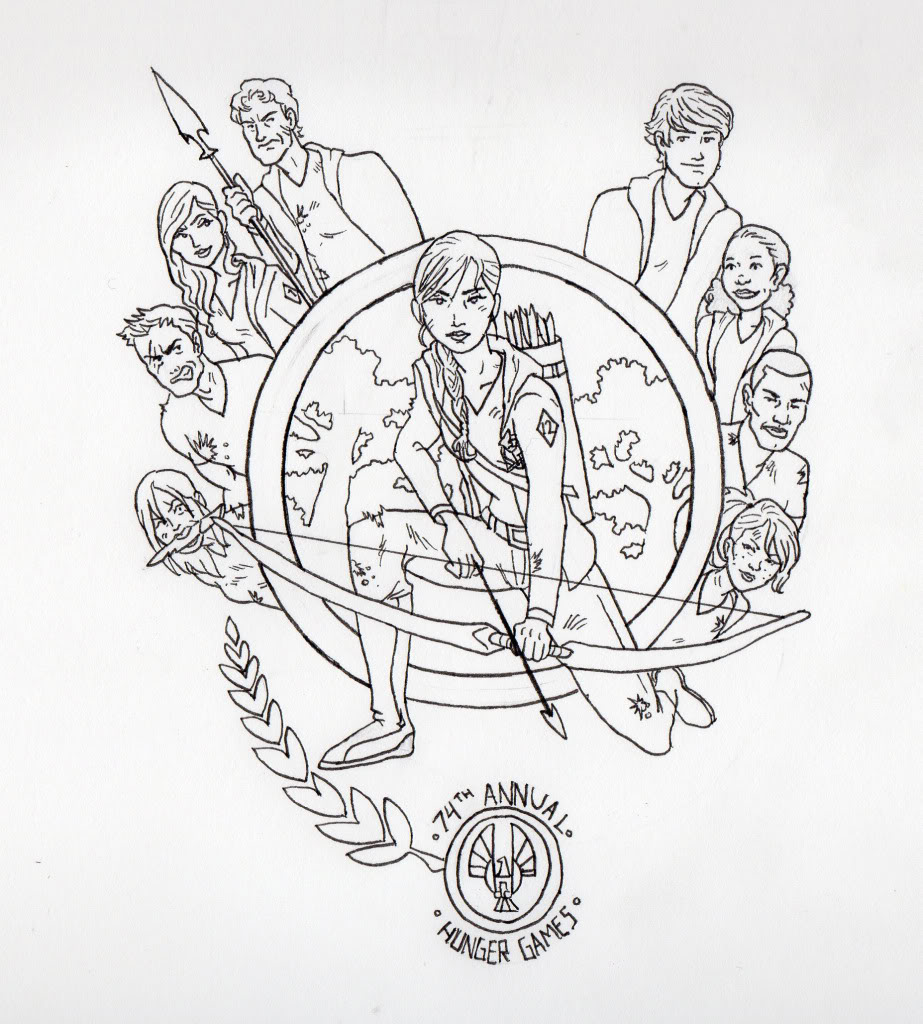 923x1024 The Hunger Games Coloring Pages For Kids Print Projects