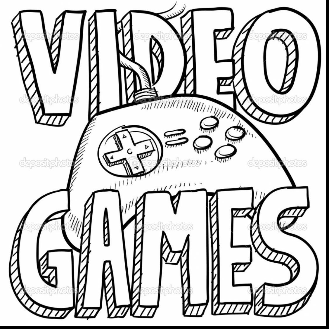1126x1126 Game Controller Free Coloring Pages For Kids Printable Colouring