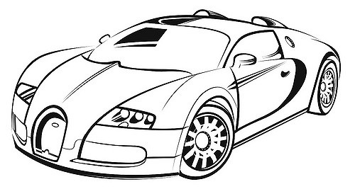 500x267 Bugatti Coloring Pages Drawing Colouring Pages Page 3