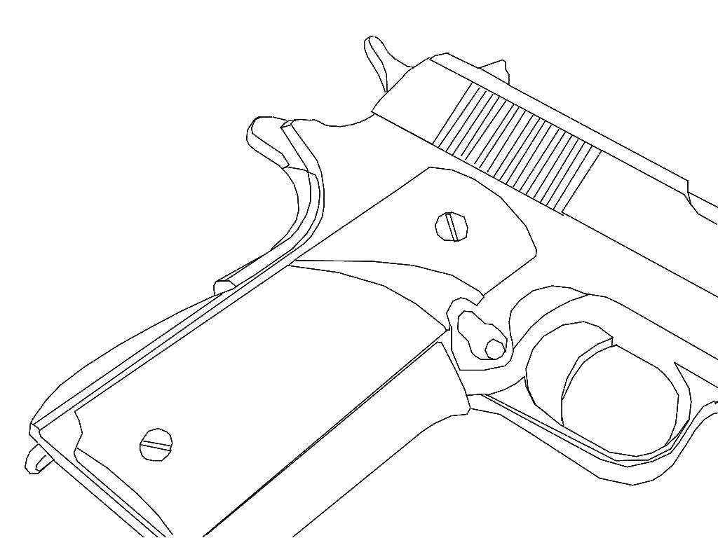 1024x768 Colt 45 By Lewi Apple