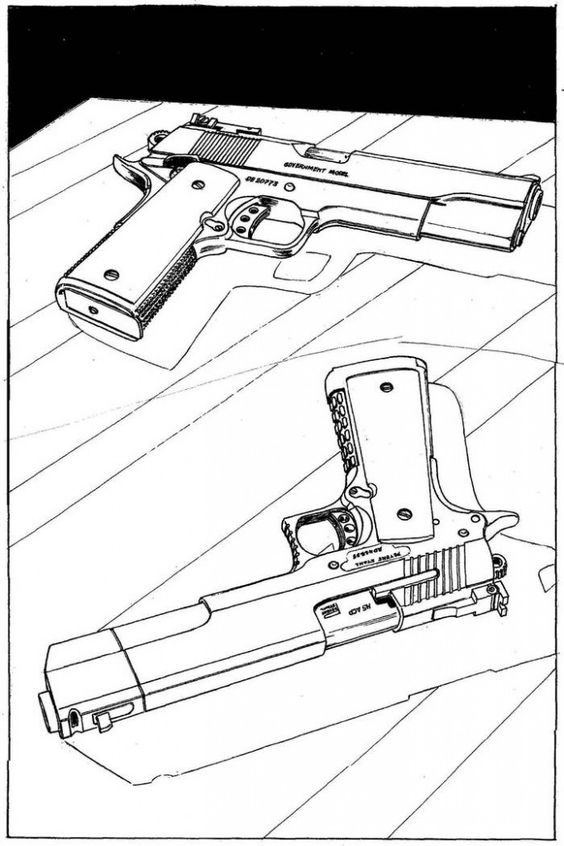 Colt 45 Drawing At Getdrawings Com