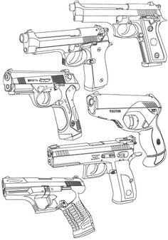 236x337 Cool Drawings Of Guns Gun Sketch By Cchikaa
