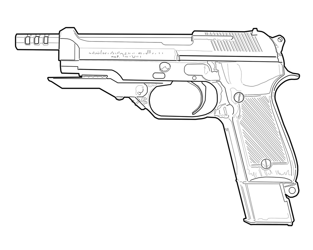 1024x819 The World's Best Photos Of Drawing And Handgun