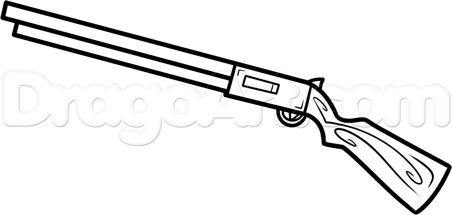 1476x702 Simple Gun Drawing
