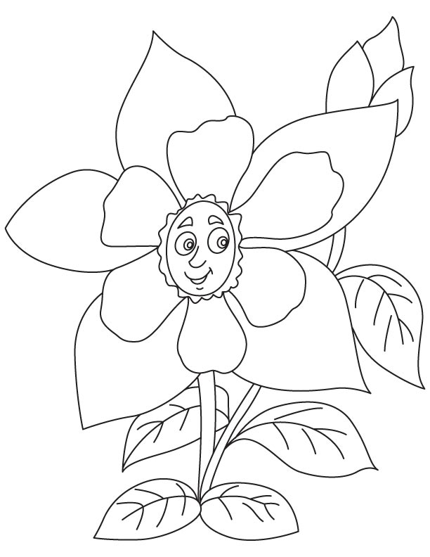 612x792 Yellow Columbine Flower Coloring Page Download Free Yellow