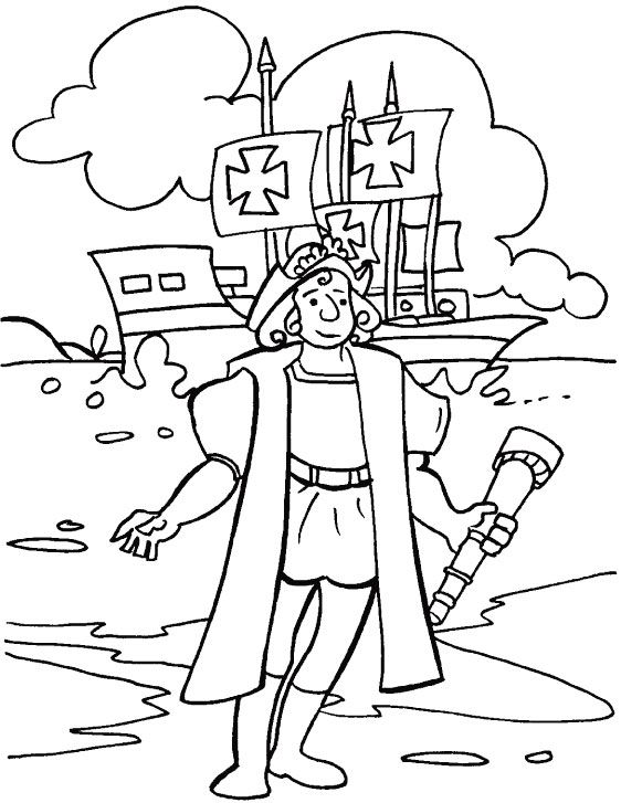 562x727 Christopher Columbus Coloring Page History
