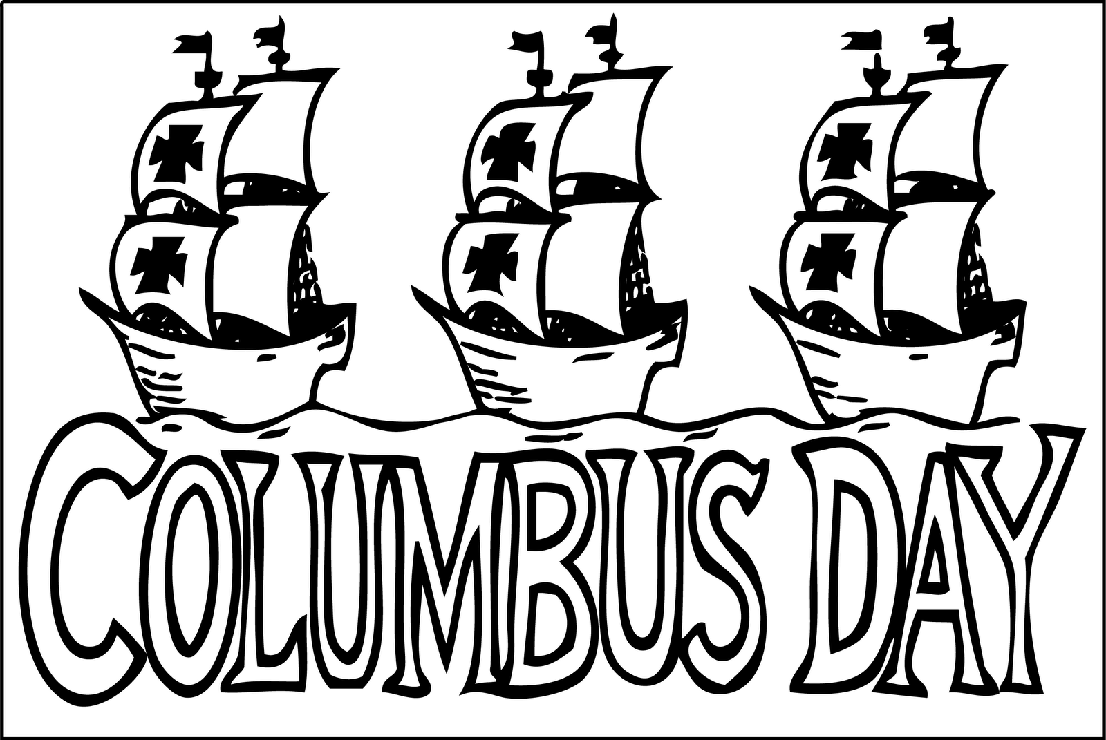 1600x1071 Columbus Day Coloring Page
