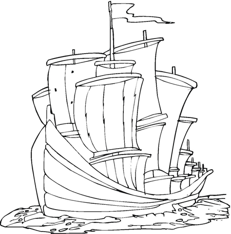 474x480 Columbus Regatta Coloring Page Free Printable Coloring Pages