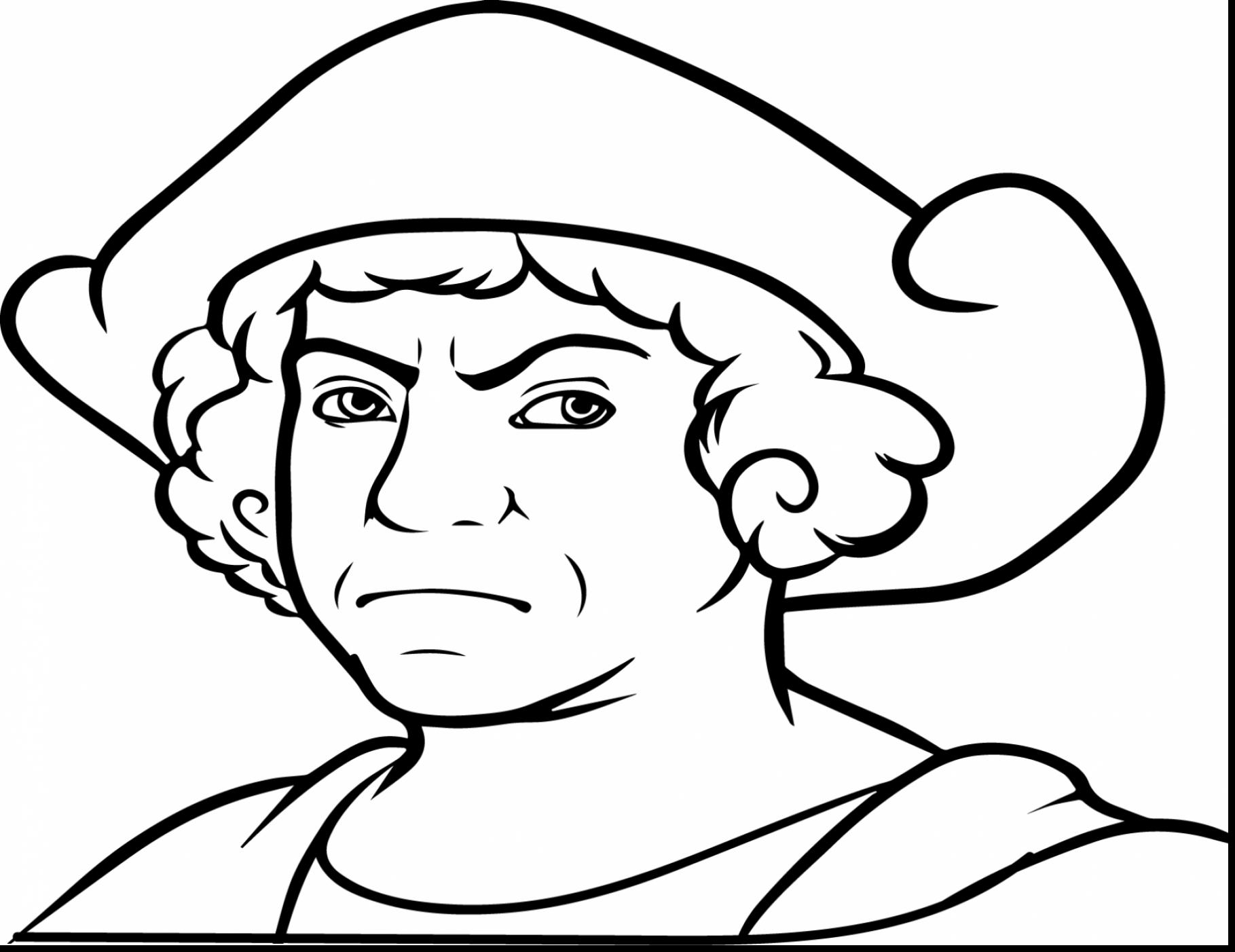 1819x1402 Drawing Of Christopher Columbus