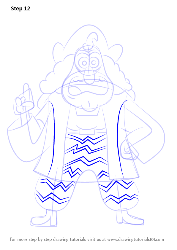 596x843 Step By Step How To Draw Christopher Columbus From Uncle Grandpa