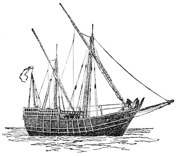600x532 Christopher Columbus Ships