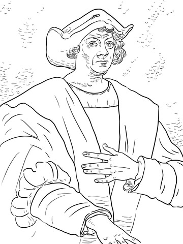 360x480 Christopher Columbus Coloring Page Free Printable Coloring Pages