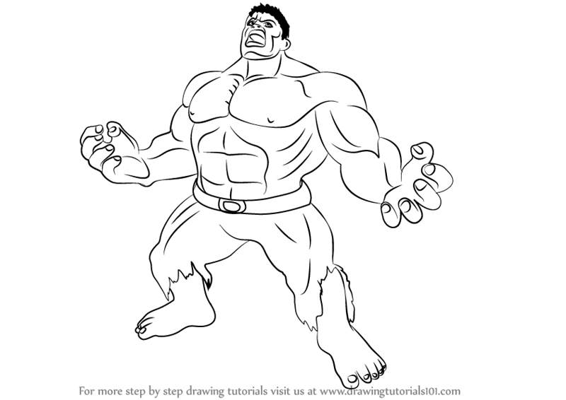 800x566 Learn How To Draw Angry Hulk (The Hulk) Step By Step Drawing