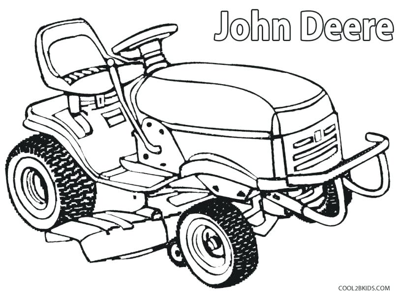 805x598 Combine Harvester Printable Coloring Sheet