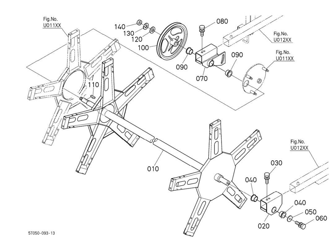 1086x800 Dc 60 Dc 70 V Belt Pulleys 5t051 5535 0 , Farm Equipment Parts