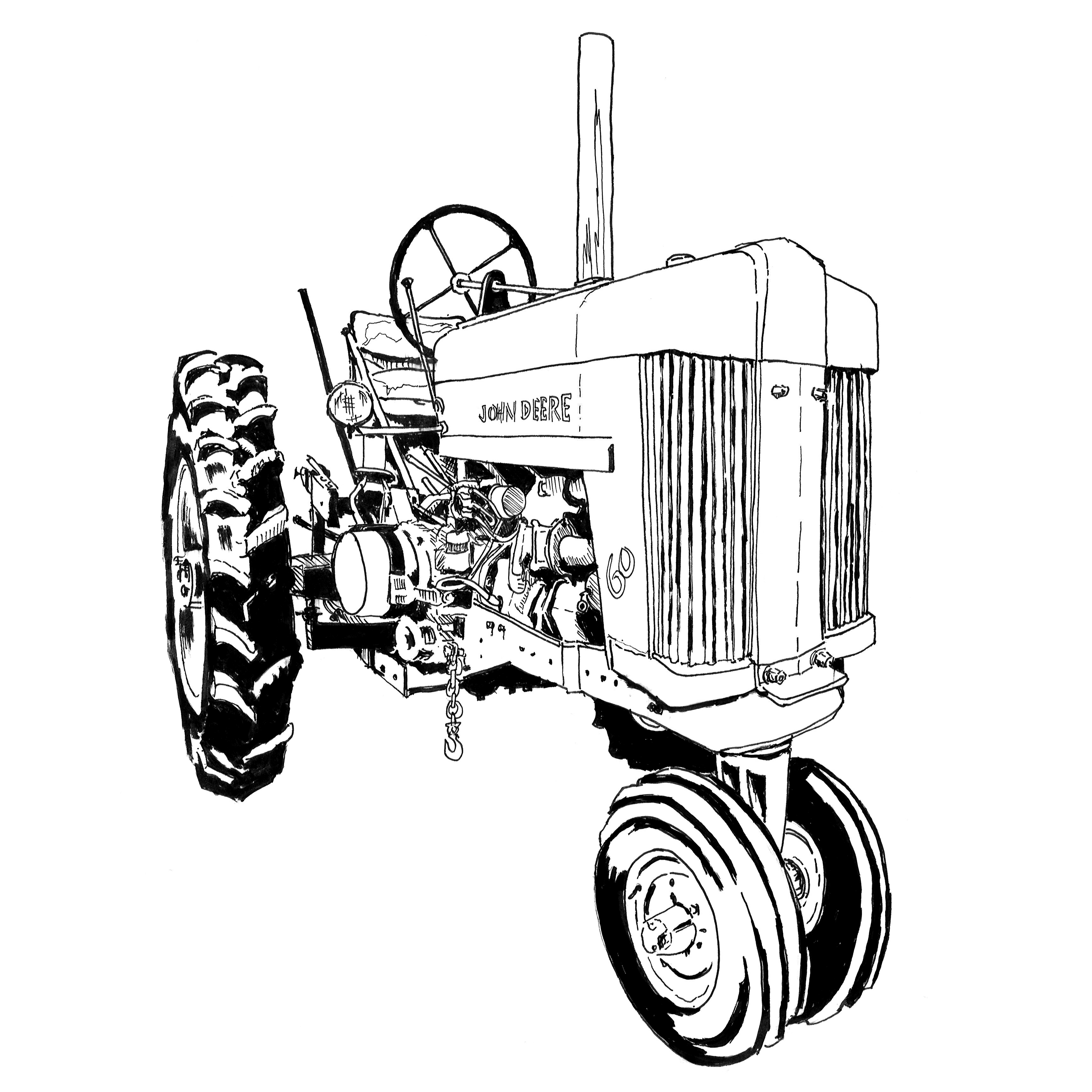3056x3056 Art Of The Tractor Coloring Book Octane Press