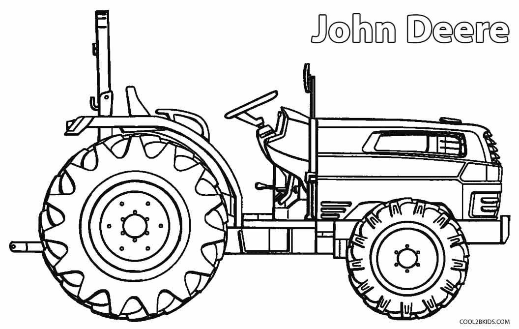 1056x669 John Deere Combine Coloring Page