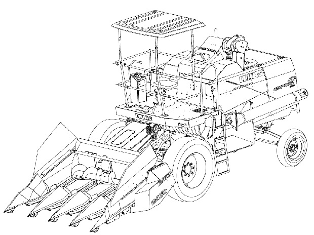 combine harvester drawing at getdrawings com