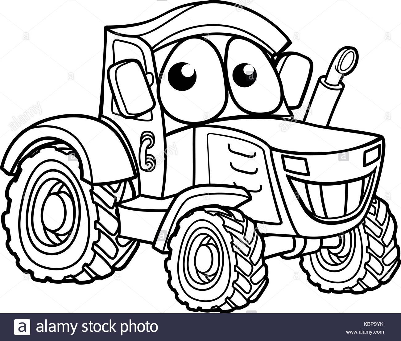 1300x1106 Cartoon Combine Harvester Vector Art Stock Vector Art