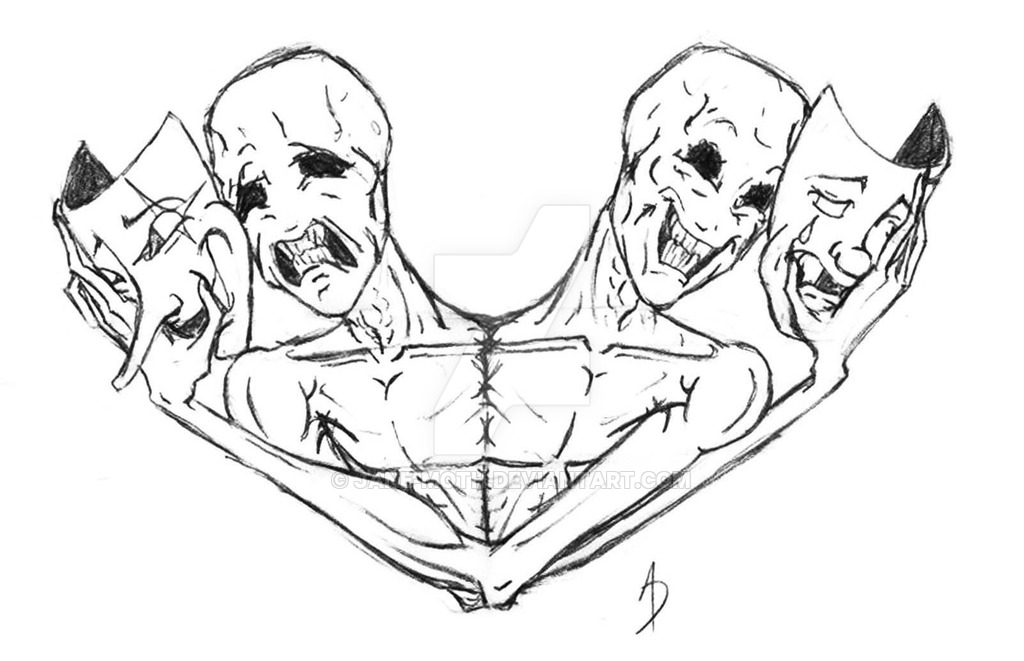comedy and tragedy masks drawing at getdrawings com free for