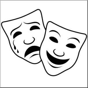 comedy and tragedy masks drawing at getdrawings com free for rh getdrawings com drama mask clip art free comedy drama mask clip art