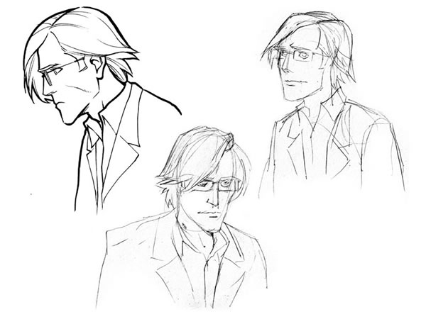 600x450 Comic Book Character Sketches Concept Sketches Of Brian