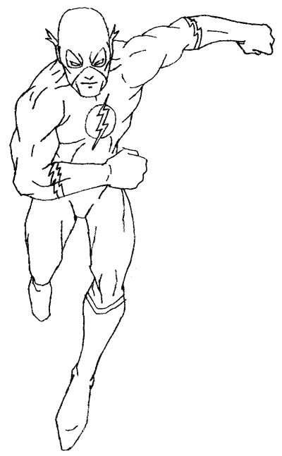 400x647 Step Flash05 How To Draw Flash From Dc Comics With Easy Step By