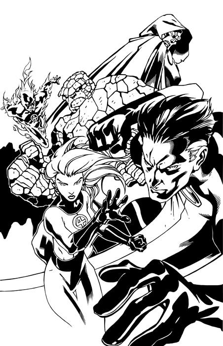 452x700 Comic Book Digital Inking With Adobe Illustrator