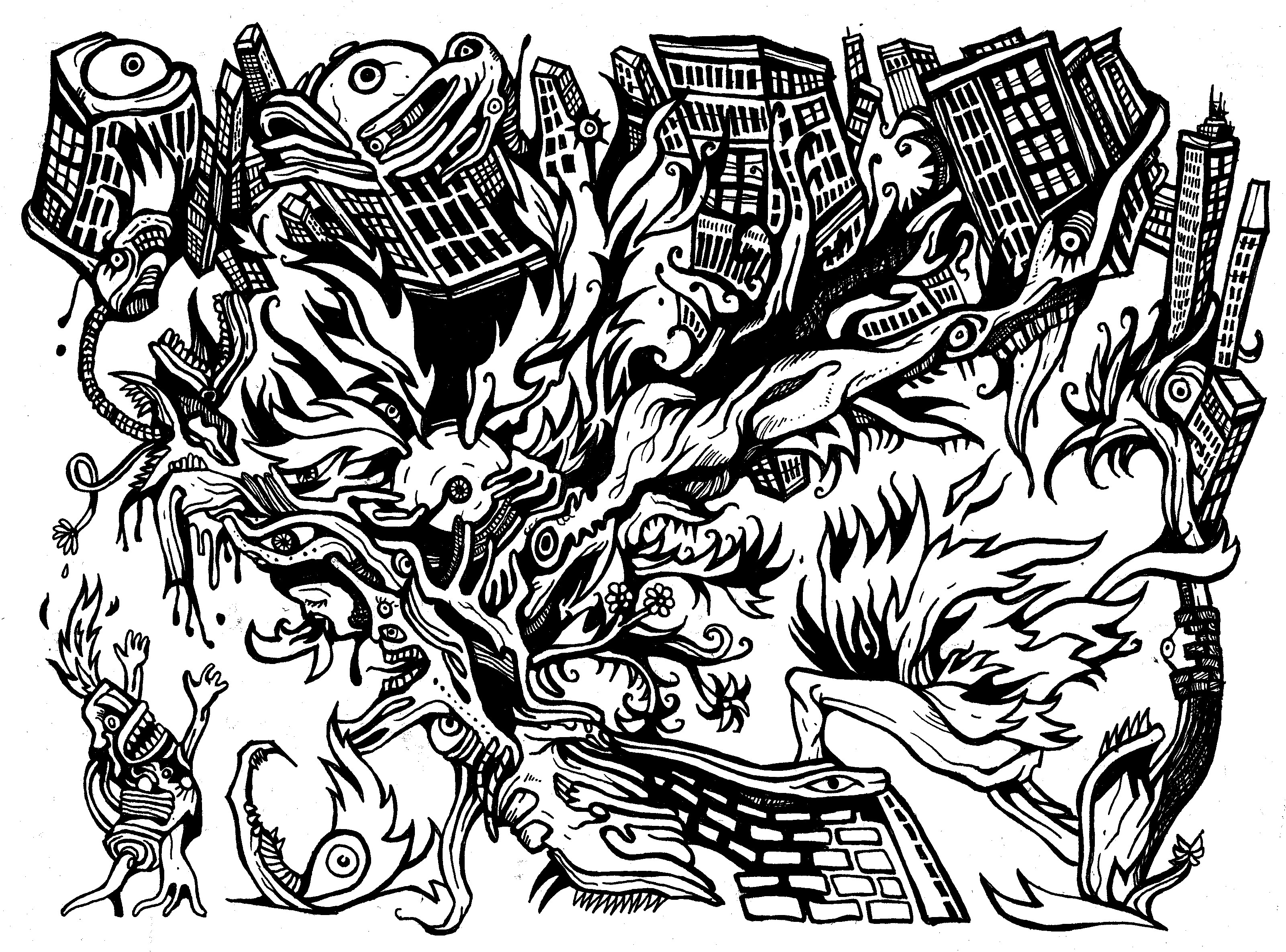 3202x2370 Heat Demons Comic Book Drawings Heyapathy Surreal Comics