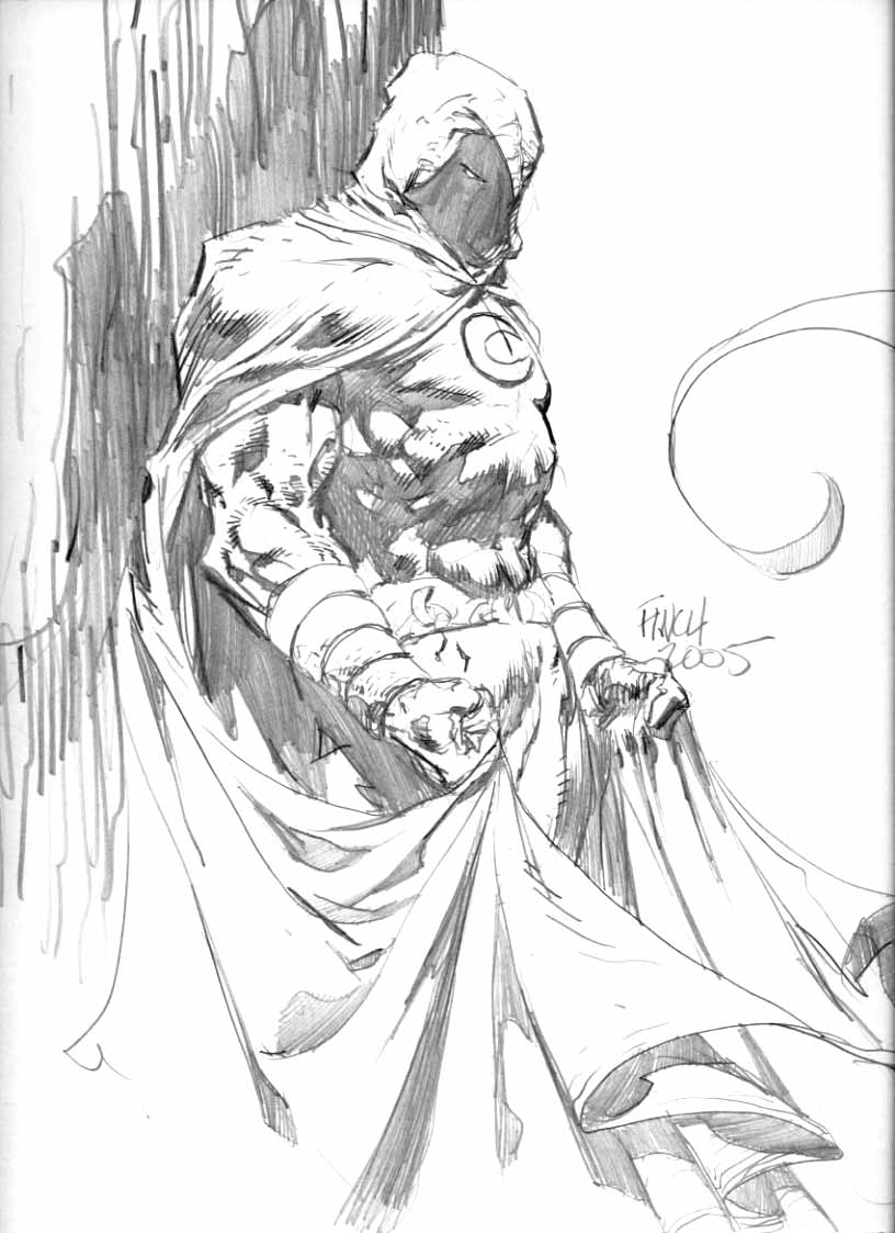 816x1123 Moon Knight Sketch, In Robert Reilly's Other Comic Book Pages