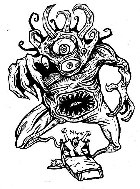 476x641 No More Nightmares! Comic Book Drawings Heyapathy Surreal Comics