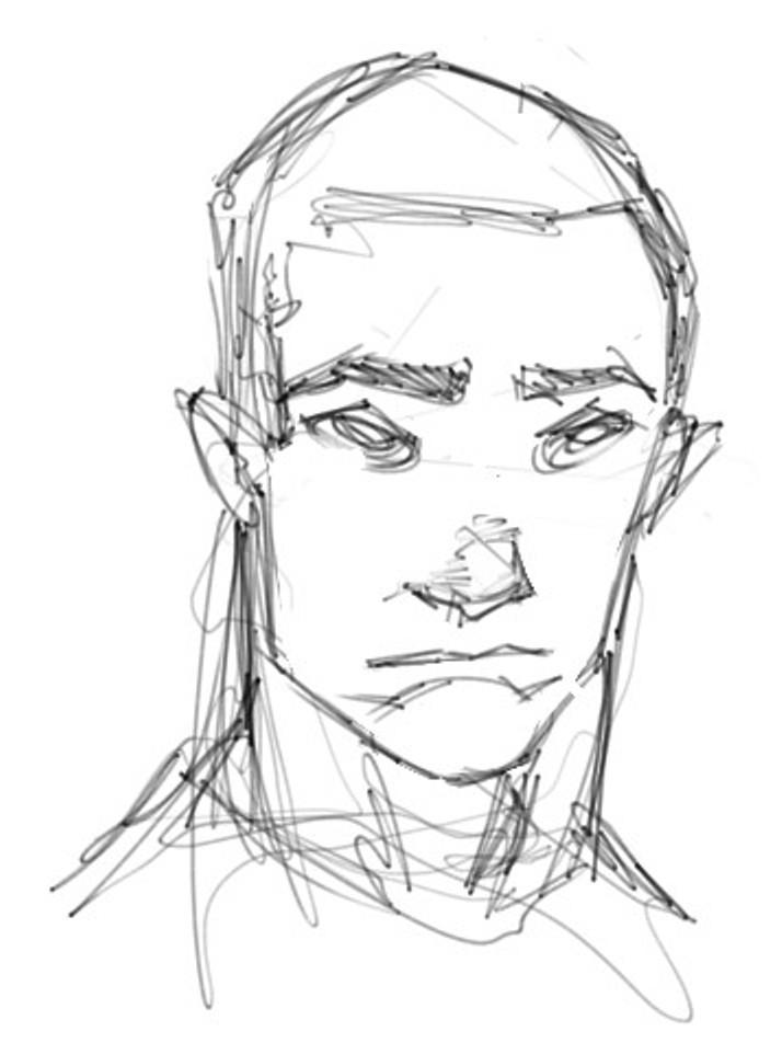 714x952 Comic Book Superhero Like Face Sketch