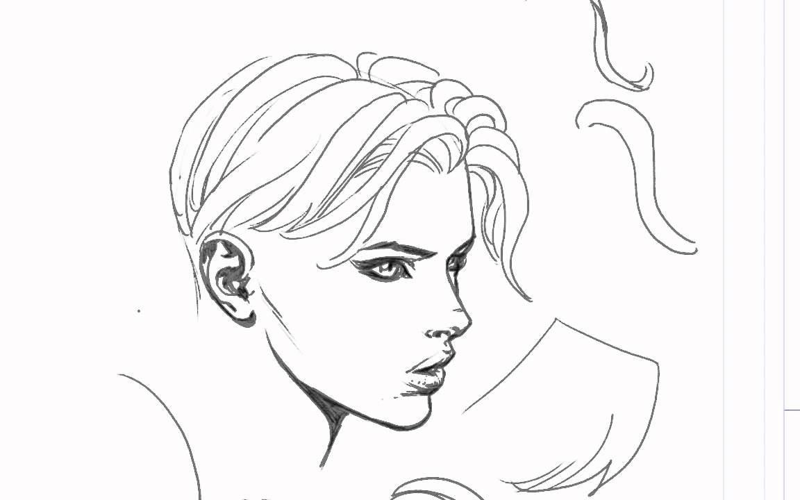 1152x720 David Finch Hair Drawing Tutorial