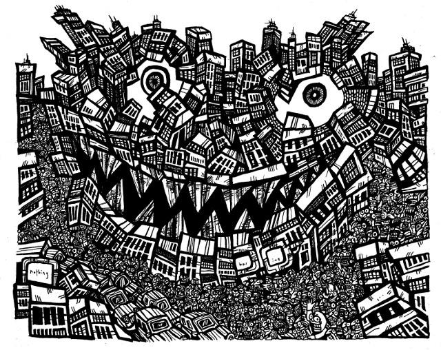 640x508 Black And White Drawings
