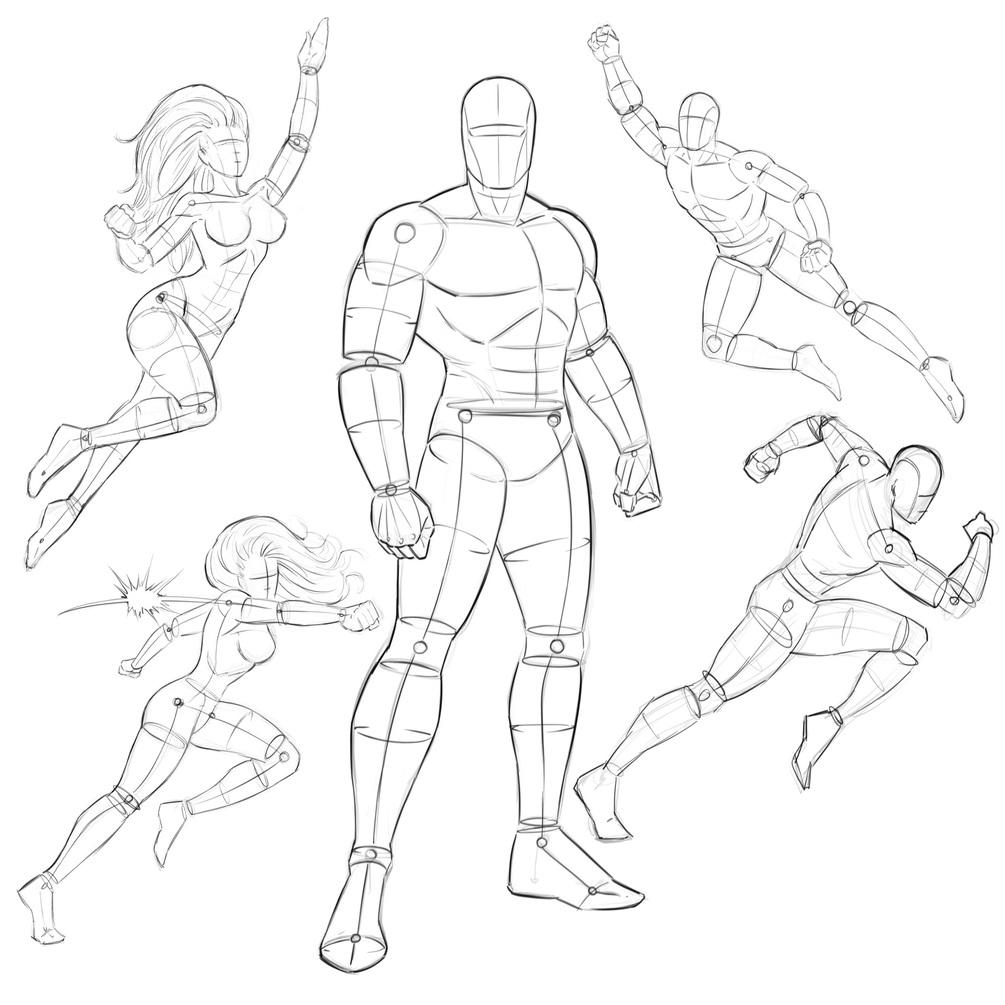 1005x1005 Comic Book Heroes Pose Pack