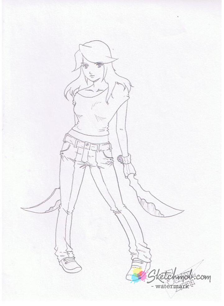 720x983 Custom Random Pencil Sketch Drawing Comic Book Manga Style