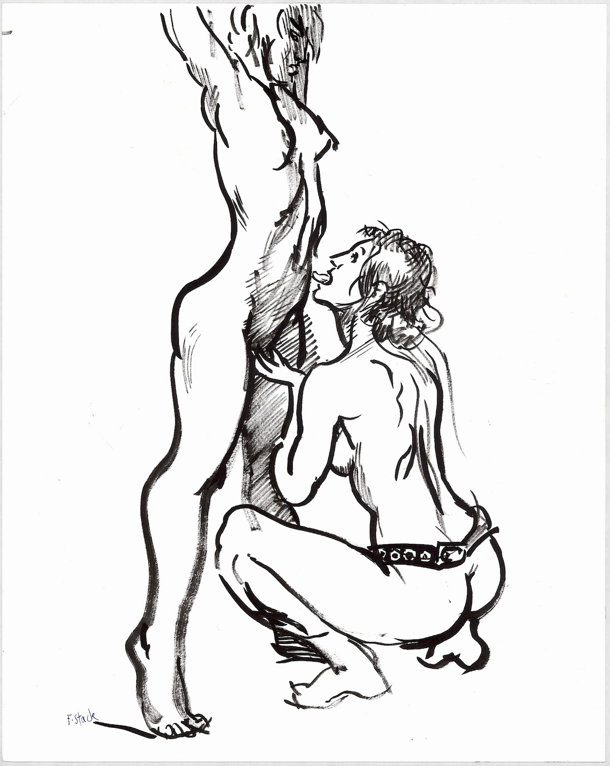 1200x1506 Frank Stack Original Art Erotic Drawing
