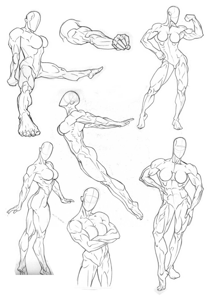 752x1063 Anatomy Practice Full Body By Bambs Devia On Comic Book Anatomy