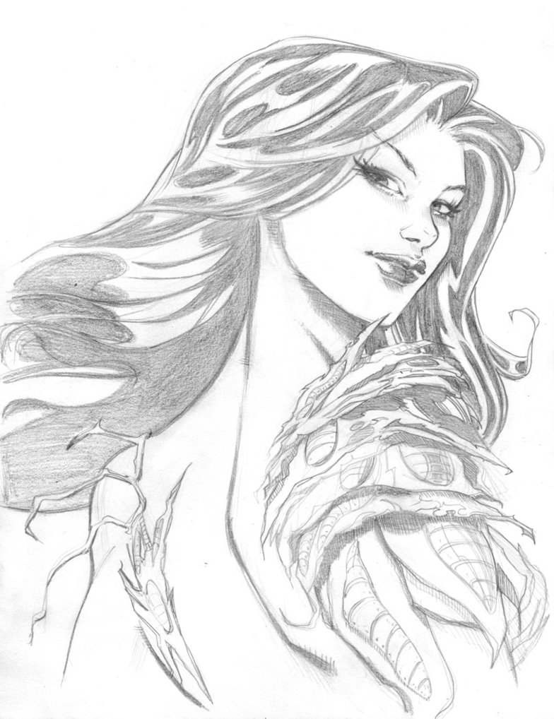 784x1018 Witchblade By Marc F On @