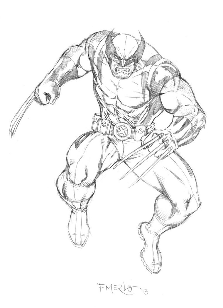 760x1052 Wolverine Sketch By Fernandomerlo