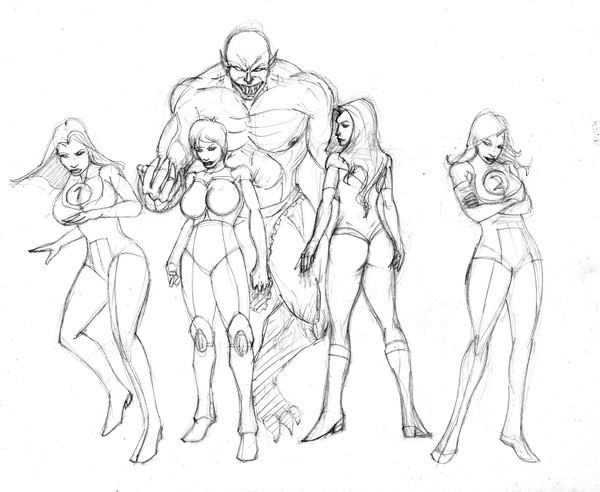 600x492 Some Girls From Invincible Comic Book By Greg Martin