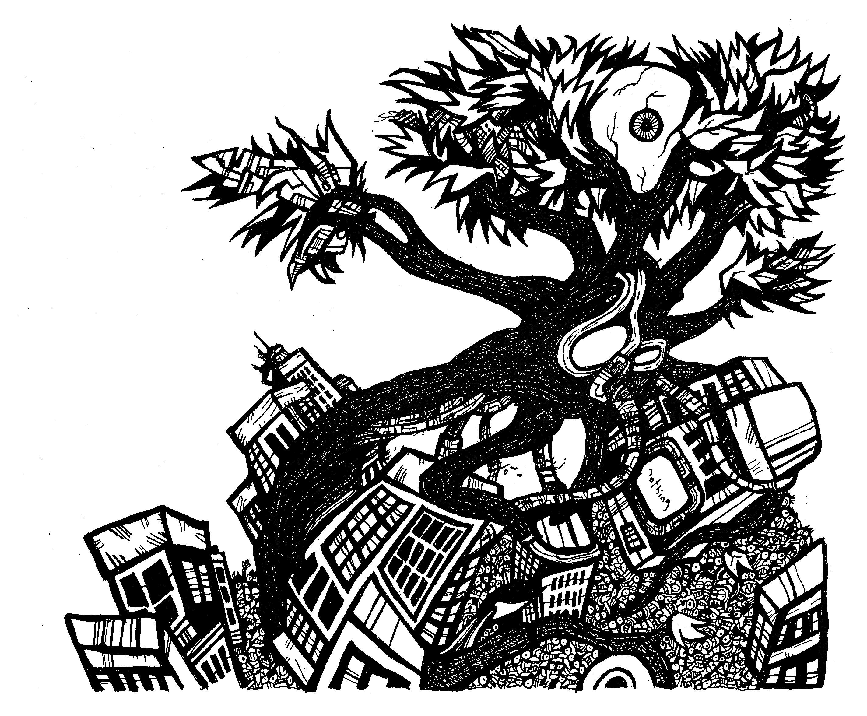 2848x2352 Trees Amp Cities New Comic Book Drawings Heyapathy Surreal Comics