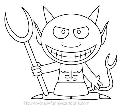 430x377 Drawing A Devil Cartoon