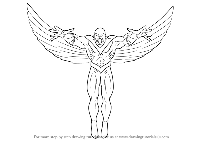 800x566 Learn How To Draw The Falcon (Marvel Comics) Step By Step