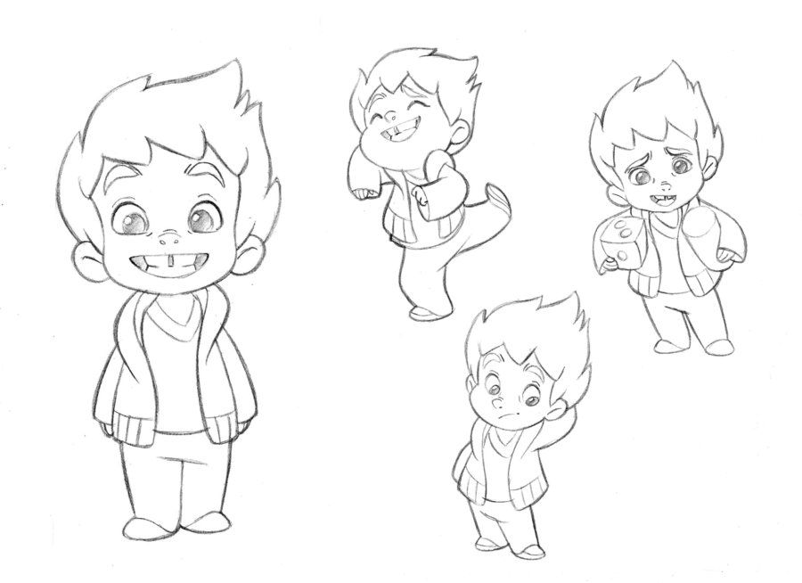 900x654 Little Boy Character Sketches Test For Mercury Filmworks By