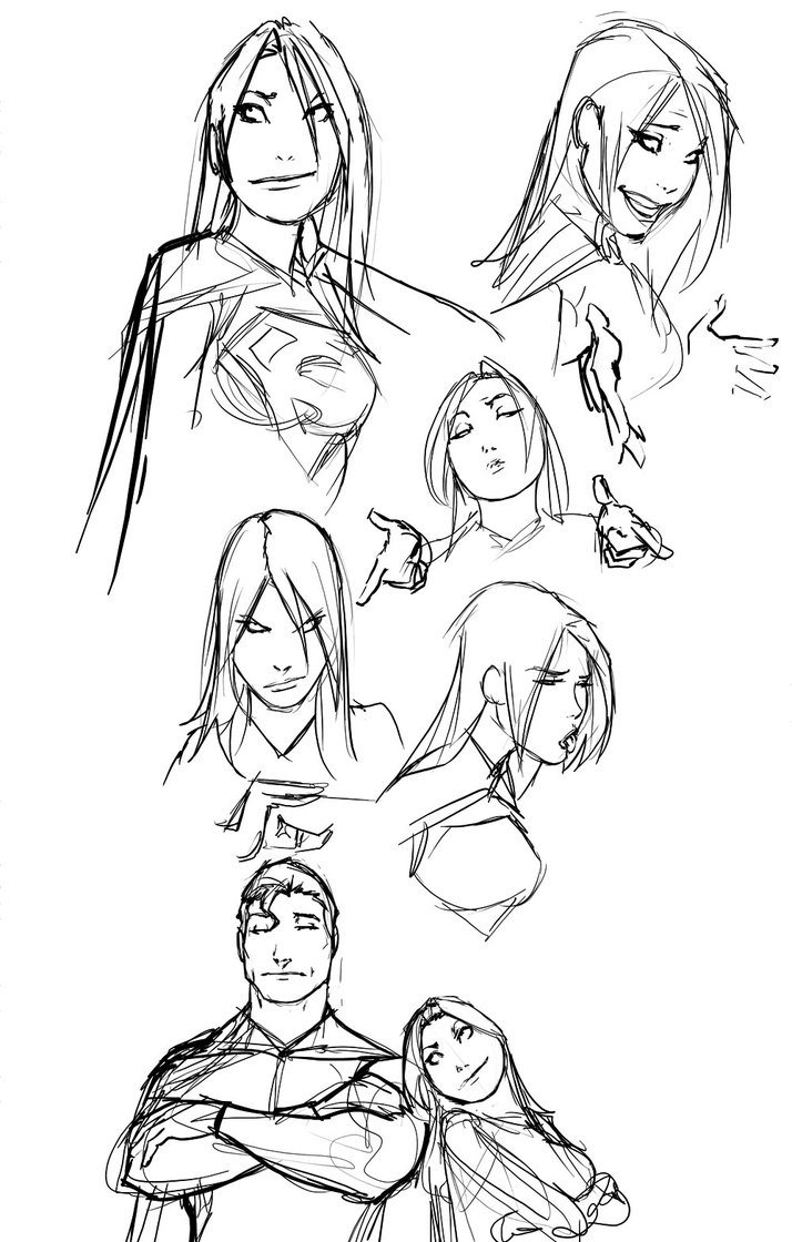 714x1120 Just Some Random Comic Character Doodles By Nebezial
