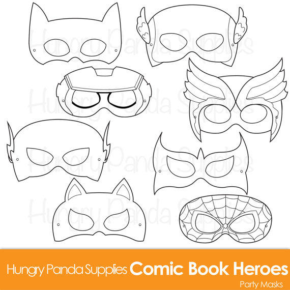 570x570 Comic Hero Masks Comic Book Heroes Comic Masks Superhero