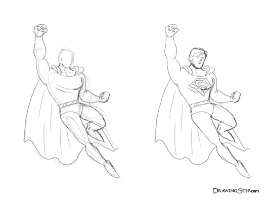 540x400 How To Draw Superman Flying