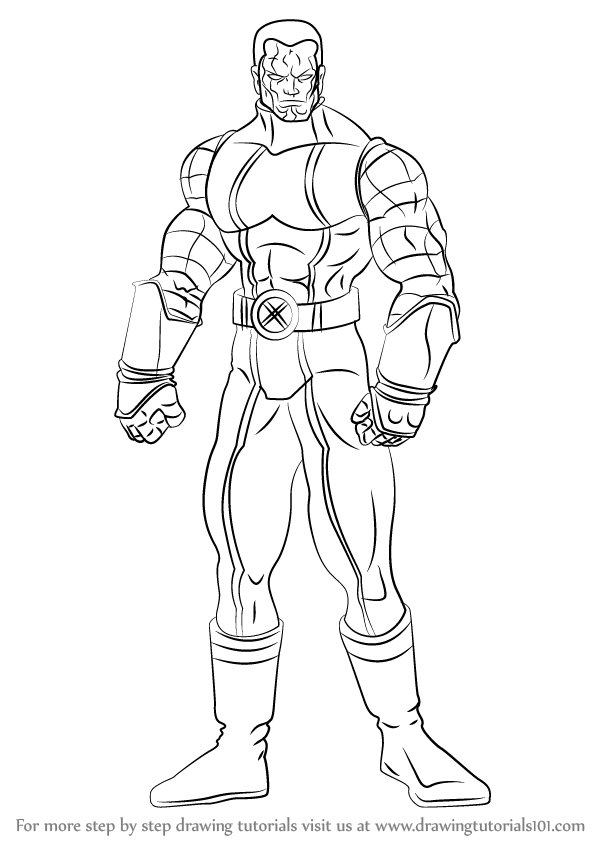598x844 Learn How To Draw Colossus (Dc Comics) Step By Step Drawing